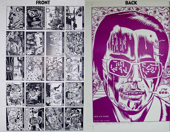 """DEATH CULT uncut card sheet #1"" is copyright ©2008 by J.R. Williams.  All rights reserved.  Reproduction prohibited."