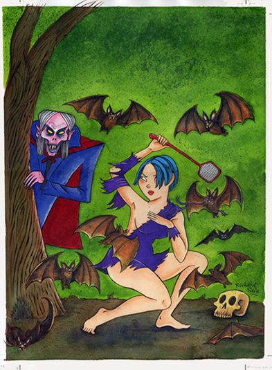 """Evil Eye #5 - Front Cover Art"" is copyright ©2008 by Richard Sala.  All rights reserved.  Reproduction prohibited."