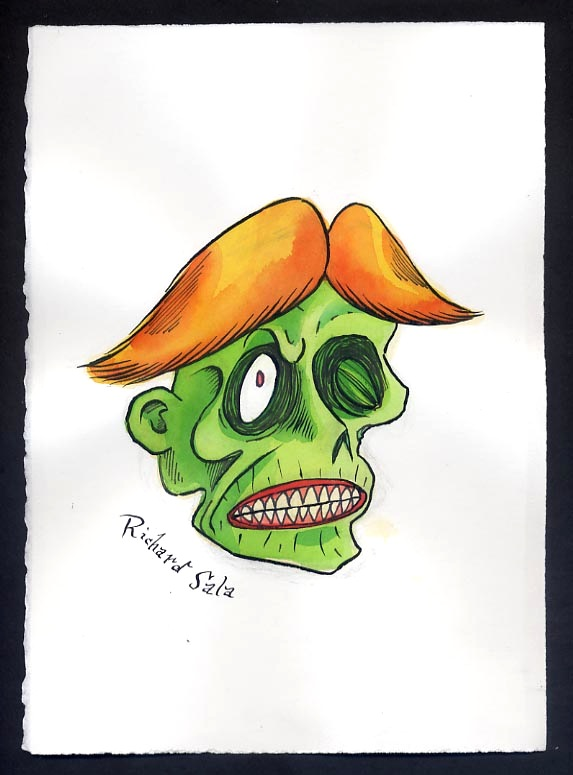 """Unmasked Series: Shock Monster"" is copyright ©2008 by Richard Sala.  All rights reserved.  Reproduction prohibited."