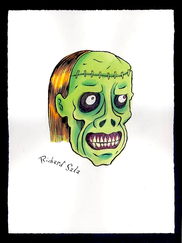 """Unmasked Series: Grimacing Ghoul"" is copyright ©2008 by Richard Sala.  All rights reserved.  Reproduction prohibited."