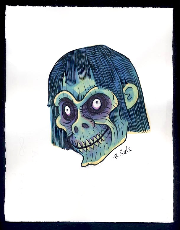 """Unmasked Series: Blue Zombie"" is copyright ©2008 by Richard Sala.  All rights reserved.  Reproduction prohibited."