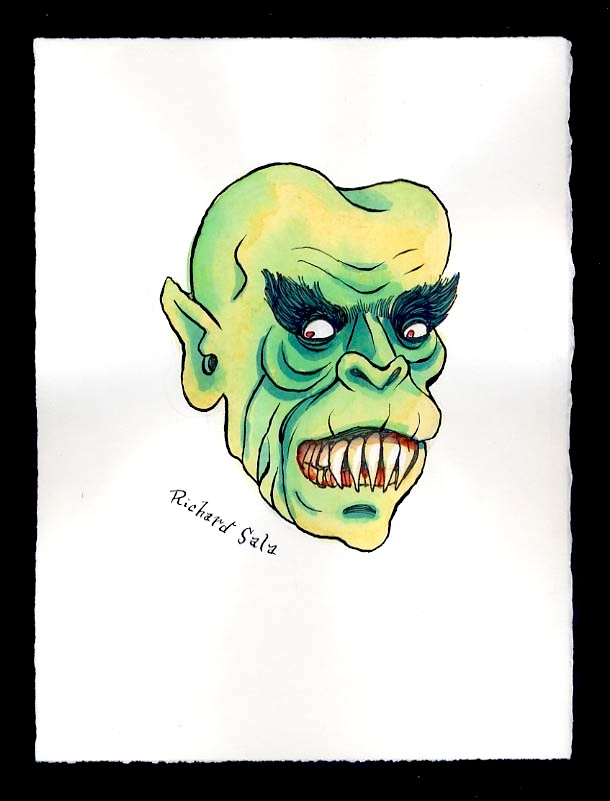 """Unmasked Series: Green Gargoyle"" is copyright ©2008 by Richard Sala.  All rights reserved.  Reproduction prohibited."