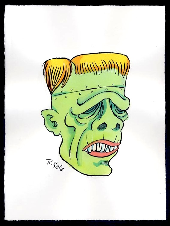 """Unmasked Series: Frankenstein 2010"" is copyright ©2008 by Richard Sala.  All rights reserved.  Reproduction prohibited."